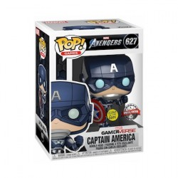 Figurine Pop Phosphorescent Marvel's Avengers (2020) Captain America Edition Limitée Funko Boutique Geneve Suisse