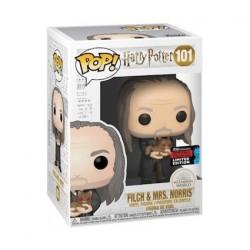 Figurine Pop NYCC 2019 Harry Potter Argus Filch et Mrs Norris Yule Edition Limitée Funko Boutique Geneve Suisse