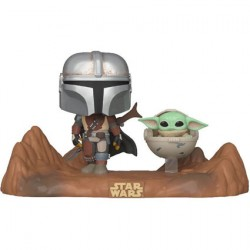 Figurine Pop Star Wars Movie Moment The Mandalorian Mandalorian & Child (Baby Yoda) Funko Boutique Geneve Suisse