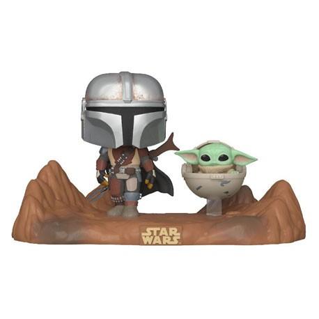 Figur Pop Star Wars Movie Moment The Mandalorian Mandalorian & Child (Baby Yoda) Funko Geneva Store Switzerland