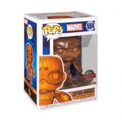 Figur Pop Marvel Captain America Wood Deco Limited Edition Funko Geneva Store Switzerland