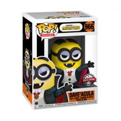 Figur DAMAGED BOX Pop Minions Dave'acula Limited Edition Funko Geneva Store Switzerland