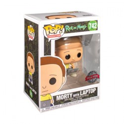 Figur Pop Rick and Morty - Morty with Laptop Limited Edition Funko Geneva Store Switzerland