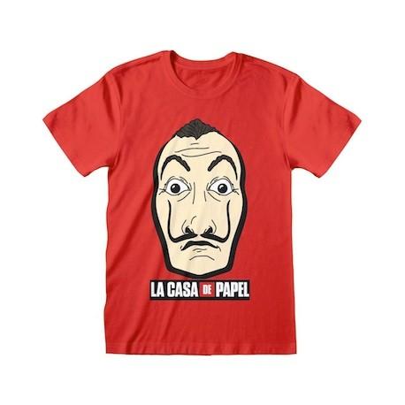 Figur T-Shirt Money Heist Mask & Logo GedaLabels Geneva Store Switzerland