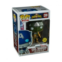 Figurine Pop Phosphorescent Games Marvel Contest of Champions Civil Warrior Green Edition Limitée Funko Boutique Geneve Suisse