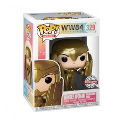 Figurine Pop Wonder Woman 1984 with Gold Shield Edition Limitée Funko Boutique Geneve Suisse