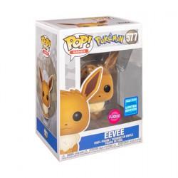 Figuren Pop Flockierte WonderCon 2020 Pokemon Eevee Limitierte Auflage Funko Genf Shop Schweiz