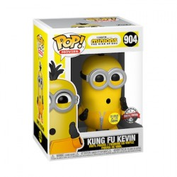Figurine Pop Phosphorescent Minions 2 The Rise Of Gru Kung Fu Kevin Edition Limitéee Funko Boutique Geneve Suisse