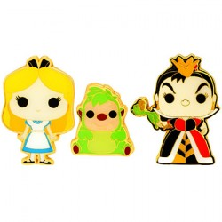 Figurine Pop Pins Disney Alice In Wonderland Alice Queen Of Hearts & Hedgehog Edition Limitée Funko Boutique Geneve Suisse