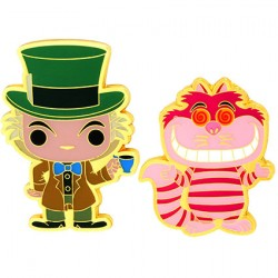 Figurine Pop Pins Disney Alice In Wonderland Mad Hatter & Cheshire Cat Edition Limitée Funko Boutique Geneve Suisse