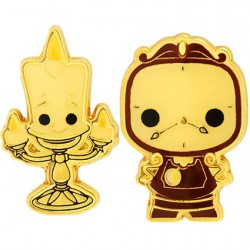Figur Pop Pins Disney Beauty And The Beast Lumiere & Cogsworth Limited Edition Funko Geneva Store Switzerland