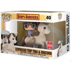 Figur Pop SDCC 2018 Bob's Burgers Tina On Unicorn Limited Edition Funko Geneva Store Switzerland