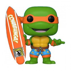 Figur Pop SDCC 2020 TMNT Michelangelo with Surfboard Limited Edition Funko Geneva Store Switzerland