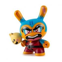 Figurine Duuny Designer Con Shao Ro the Kung Bleu par Hyperactive Monkey Kidrobot Boutique Geneve Suisse