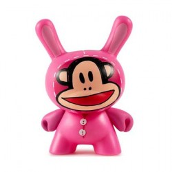 Figurine Duuny Designer Con Julius Bunny Rose par Paul Frank Kidrobot Boutique Geneve Suisse