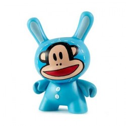 Figurine Duuny Designer Con Julius Bunny Bleu par Paul Frank Kidrobot Boutique Geneve Suisse
