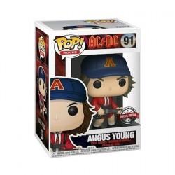 Figurine Pop Rock AC/DC Angus Young avec Veste Rouge Edition Limitée Funko Boutique Geneve Suisse