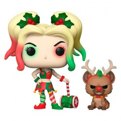 Figur Pop DC Comics Holiday Harley Quinn with Helper Funko Geneva Store Switzerland