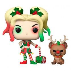Figurine Pop DC Comics Holiday Harley Quinn avec Helper Funko Boutique Geneve Suisse