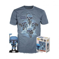 Figur Pop and T-shirt Star Wars The Mandalorian Limited Edition Funko Geneva Store Switzerland