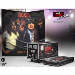 Figur AC/DC Road Case Statue and Stage Backdrop Statues AC/DC Rock Ikonz On Tour Highway to Hell Limited Edition Knuckelbonz ...