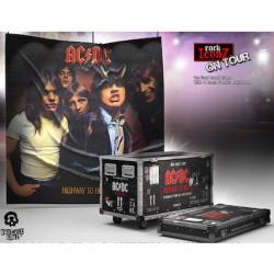 Figuren AC/DC Rock Ikonz On Tour Highway to Hell Road Case Statue und Bühnenhintergrund Set Knuckelbonz Genf Shop Schweiz