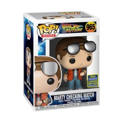 Figurine Pop SDCC 2020 Marty McFly Checking Watch Edition Limitée Funko Boutique Geneve Suisse