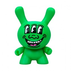 "Figur Dunny Art Figure Three Eyed Face 8"" Masterpiece by Keith Haring Kidrobot Geneva Store Switzerland"