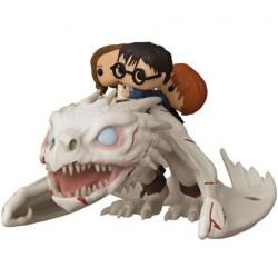 Figurine Pop Harry Potter Gringott's Dragon avec Harry Ron et Hermione Funko Boutique Geneve Suisse
