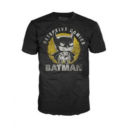 Figurine T-shirt DC Comics Batman Sun Faded Funko Boutique Geneve Suisse