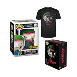 Figur Pop Glow in the Dark and T-shirt DC Comics The Joker Death of the Family Limited Edition Funko Geneva Store Switzerland