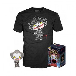 Figur Pop Black and White and T-shirt IT Pennywise with Beaver Hat Limited Edition Funko Geneva Store Switzerland