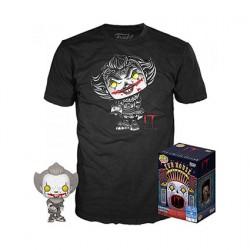 Figuren Pop Schwarz und Weiß und T-shirt IT Pennywise mit Beaver Hat Limitierte Auflage Funko Genf Shop Schweiz