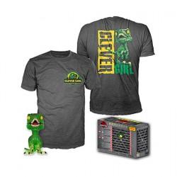 Figur Pop and T-Shirt Jurassic Park Clever Raptor Funko Geneva Store Switzerland