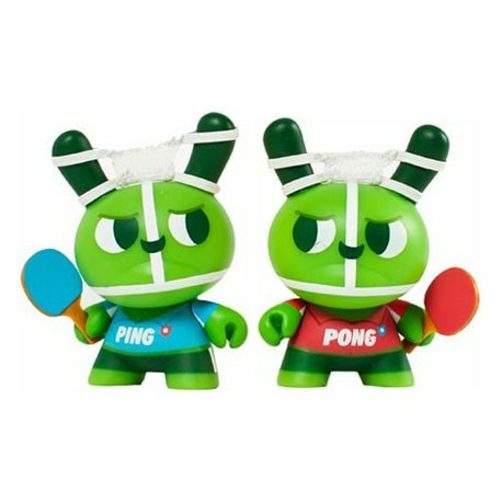 Figur Dunny 2012 Ping and Pong by Mauro Gatti Kidrobot Dunny Geneva