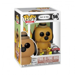 Figurine Pop Icons This Is Fine Dog Edition Limitée Funko Boutique Geneve Suisse