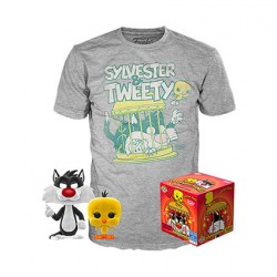 Figur Pop Flocked and T-shirt Looney Tunes Sylvester and Tweety Limited Edition Funko Geneva Store Switzerland