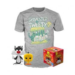 Figurine Pop Floqué et T-shirt Looney Tunes Titi et Grosminet Edition Limitée Funko Boutique Geneve Suisse