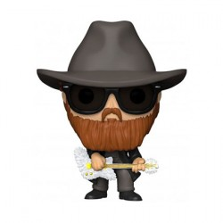 Figurine Pop Floqué ZZ Top Billy Gibbons Funko Boutique Geneve Suisse