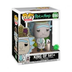 Figurine Pop avec Son Rick et Morty King of $h!+ Deluxe Funko Boutique Geneve Suisse