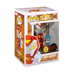 Figur Pop Metallic Glow in the Dark Infinity Warps Iron Hammer Limited Edition Funko Geneva Store Switzerland