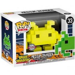 Figurine Pop Space Invaders Medium Invader Yellow 8-Bit Edition Limitée Funko Boutique Geneve Suisse