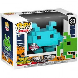 Figurine Pop Space Invaders Medium Invader Blue 8-Bit Edition Limitée Funko Boutique Geneve Suisse
