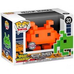 Figurine Pop Space Invaders Medium Invader Orange 8-Bit Edition Limitée Funko Boutique Geneve Suisse