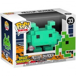 Figur Pop Space Invaders Medium Invader Teal 8-Bit Limited Edition Funko Geneva Store Switzerland