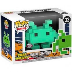 Figurine Pop Space Invaders Medium Invader Teal 8-Bit Edition Limitée Funko Boutique Geneve Suisse