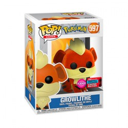 Figur Pop NYCC 2020 Flocked Pokemon Growlithe Limited Edition Funko Geneva Store Switzerland