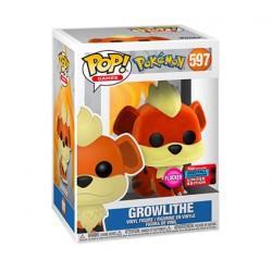 Figurine Pop NYCC 2020 Floqué Pokemon Growlithe Edition Limitée Funko Boutique Geneve Suisse