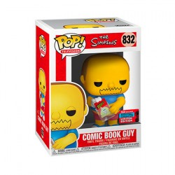 Figur Pop NYCC 2020 The Simpsons Comic Book Guy Limited Edition Funko Geneva Store Switzerland