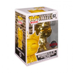 Figur Pop Notorious BIG Biggie Gold Chrome Limited Edition Funko Geneva Store Switzerland
